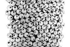 boîtes en aluminium vides images libres de droits