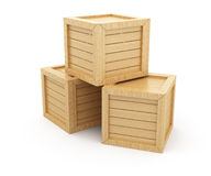 Boîtes en bois Photo libre de droits