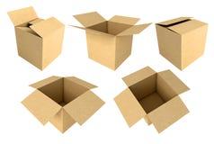 Boîtes en carton 3d Image stock