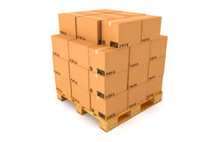 Boîtes en carton Photo libre de droits