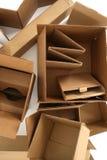 Boîtes en carton, de ci-avant Photo stock