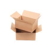 Boîtes en carton ondulé Image stock