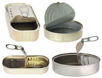 Boîtes en métal Images stock