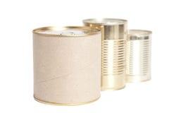 Boîtes en métal scellé Photos libres de droits