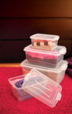 Boîtes en plastique Image libre de droits