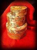 Boîtes en soie asiatiques Images libres de droits
