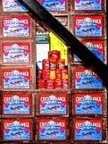 Boîtes et boîtes à sardine de vintage Image libre de droits