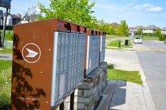 Boîtes postales de courrier de Canada image libre de droits