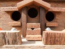 Boîtes postales en bois Photo libre de droits