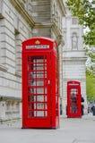 Boîtes rouges de téléphone à Londres Photos libres de droits