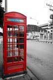 Boîtes rouges de téléphone de la Thaïlande de vintage Images libres de droits