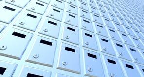 Boîtes verrouillées empilées illustration stock