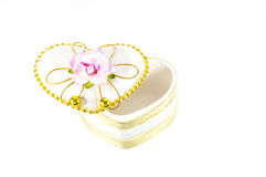 Boîtier blanc de coeur Image stock