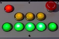 Boîtier de commande de bouton poussoir photographie stock