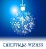 Boże Narodzenia Życzą sposobów sezony Wita Wesoło Xmas ilustracja wektor