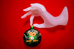 Boże Narodzenia bawją się dekorację; fotografia royalty free
