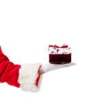 boże narodzenia Claus daje teraźniejszość Santa obraz royalty free