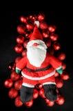 boże narodzenia Claus target1813_0_ ornament czerwień Santa Obrazy Stock
