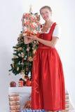 boże narodzenia costume kobiet tradycyjnych potomstwa obraz royalty free