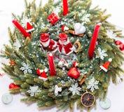 Boże Narodzenia dekoracje figurka Świeczka odosobniony zdjęcia royalty free