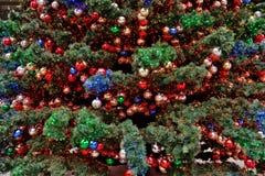 boże narodzenia dekorująca jodła Zdjęcie Stock