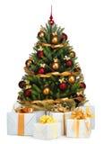 boże narodzenia dekorujący drzewo zdjęcie royalty free