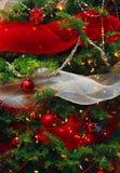 boże narodzenia dekorujący drzewo Zdjęcie Stock