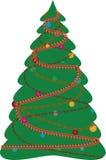 boże narodzenia dekorujący futerkowy drzewo Zdjęcie Royalty Free