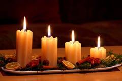 boże narodzenia dekorujący stół Zdjęcie Royalty Free