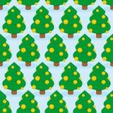 boże narodzenia deseniują bezszwowego drzewa Wakacyjny drewniany ornament Fotografia Stock