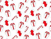 boże narodzenia deseniują bezszwowego Nowego roku wektorowy projekt Opakunkowy papier dla Bożenarodzeniowych prezentów pudełek ilustracja wektor
