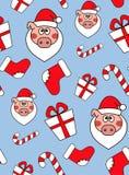 boże narodzenia deseniują bezszwowego Nowego roku wektorowy projekt Opakunkowy papier dla Bożenarodzeniowych prezentów pudełek royalty ilustracja