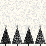 boże narodzenia deseniują bezszwowych drzewa Obraz Royalty Free