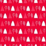 Boże Narodzenia deseniują na czerwonym tle fotografia royalty free