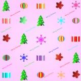 Boże Narodzenia deseniują tło - wektorowa ilustracja Zdjęcie Royalty Free