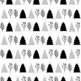 Boże Narodzenia deseniują w czarny i biały Zdjęcia Royalty Free