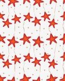 Boże Narodzenia deseniują z breloczek gwiazdami Obraz Royalty Free