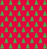 Boże Narodzenia deseniują z drzewami Obraz Royalty Free