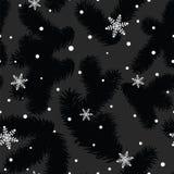 Boże Narodzenia deseniują z jedlinowymi łapami i płatkami śniegu Ilustracji