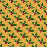 Boże Narodzenia deseniują z jemiołą i płatek śniegu zdjęcie royalty free