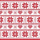 Boże Narodzenia dziający wzór, karta scandynavian - ilustracja wektor