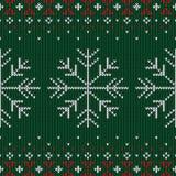 Boże Narodzenia dziający wzór Zima geometryczny bezszwowy wzór de royalty ilustracja