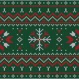 Boże Narodzenia dziający wzór Zima geometryczny bezszwowy wzór de ilustracji