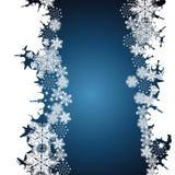 Boże Narodzenia graniczą, płatka śniegu projekta tło royalty ilustracja