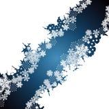 Boże Narodzenia graniczą, płatka śniegu projekta tło ilustracji