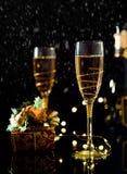 Boże Narodzenia i nowego roku świętowanie z szampanem Nowego Roku holi Zdjęcia Royalty Free