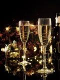 Boże Narodzenia i nowego roku świętowanie z szampanem Nowego Roku holi Fotografia Royalty Free