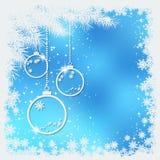 Boże Narodzenia i nowego roku błękitny rozmyty wektorowy tło royalty ilustracja