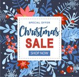 Boże Narodzenia i nowego roku element, plakat dla twój projekta royalty ilustracja