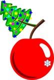Boże Narodzenia i Nowego Roku jabłko Fotografia Royalty Free